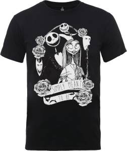 The Nightmare Before Christmas Jack Skellington And Sally Black T-Shirt