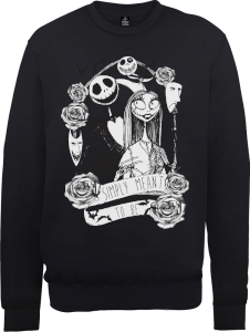 The Nightmare Before Christmas Jack Skellington And Sally Black Sweatshirt