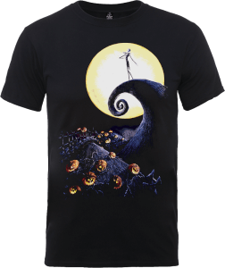 Disney The Nightmare Before Christmas Jack Skellington Pumpkin King Colour Black T-Shirt