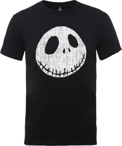 Disney The Nightmare Before Christmas Jack Skellington Crinkle Black T-Shirt