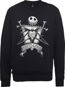 The Nightmare Before Christmas Jack Skellington Misfit Love Black Sweatshirt