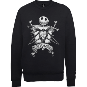 Disney The Nightmare Before Christmas Jack Skellington Misfit Love Black Sweatshirt