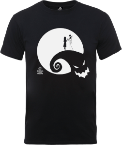 The Nightmare Before Christmas Jack And Sally Moon Black T-Shirt