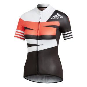 adidas Women's Adistar Jersey - Black/White/Red