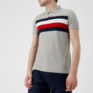 Tommy Hilfiger Men's Striped Polo Shirt - Cloud Heather/Multi