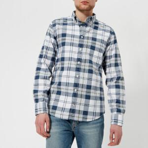 Tommy Hilfiger Men's Oxford Check Shirt - BW/Dark Denim/Four Leaf Clover