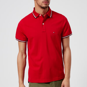 Tommy Hilfiger Men's Tommy Tipped Slim Polo Shirt - Haute Red