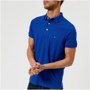 Tommy Hilfiger Men's Luxury Pique Short Sleeve Polo Shirt - Mazarine Blue