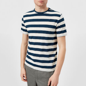 Officine Générale Men's Overdye Stripe T-Shirt - Aegean Blue