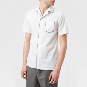 Officine Générale Men's Dario Piping Seersucker Shirt - White