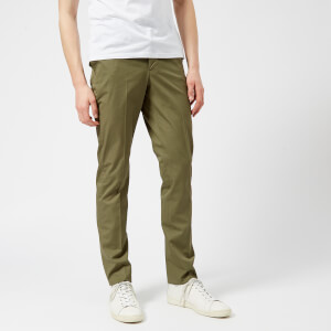 Officine Générale Men's Paul Cotton Twill Trousers - Olive