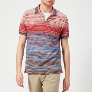 Missoni Men's Multi Stripe Classic Polo Shirt - Blue