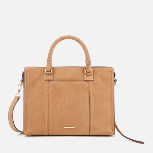 Rebecca Minkoff Women's Bree Medium Top Zip Satchel - Almond