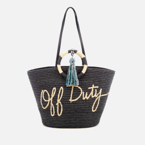 Rebecca Minkoff Women's Straw Off Duty Tote - Black