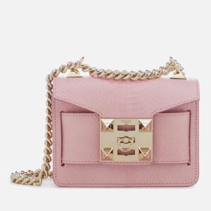 SALAR Women's Gaia Snake Bag - Pink