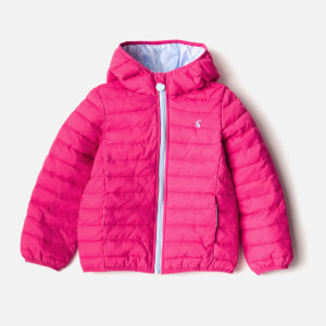 Joules Girls' Kinnaird Packaway Coat - Bright Pink