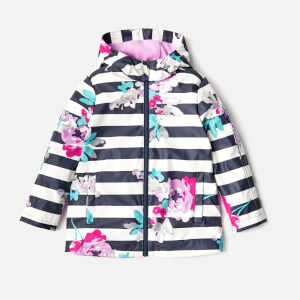 Joules Girls' Raindance Waterproof Coat - Margate Floral