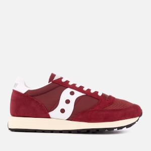 Saucony Women's Jazz Original Vintage Trainers - Burgundy/White