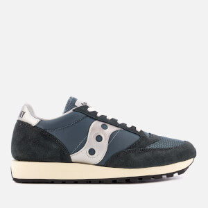 Saucony Men's Jazz Original Vintage Trainers - Blue/Navy/Silver