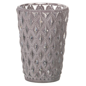 Parlane Lattice Glass Tealight Holder - Grey from I Want One Of Those