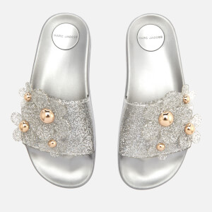 Marc Jacobs Women's Daisy Aqua Slide Sandals - Silver