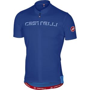 Castelli Prologo V Jersey - Surf Blue
