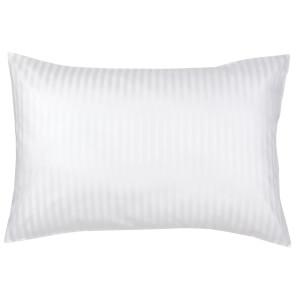 Christy 300TC Sateen Stripe Standard Pillowcase Pair - White