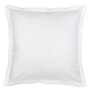 Christy 300TC Sateen Stripe Oxford Square Pillowcase Pair - White