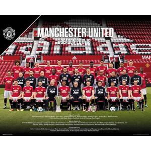 Manchester United Team Photo 17/18 Mini Poster 40 x 50cm