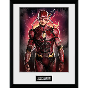 Justice League Flash Solo Framed Photograph 12 x 16 Inch