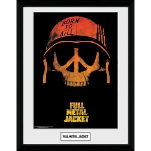 Full Metal Jacket Skull Framed Photograph 12 x 16 Inch