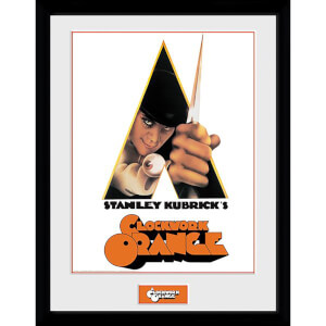 Clockwork Orange Key Art White Framed Photograph 12 x 16 Inch