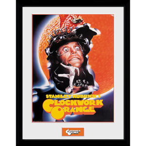 Clockwork Orange Key Art Orange Framed Photograph 12 x 16 Inch