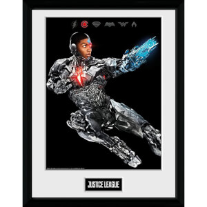 Justice League Movie Cyborg Framed Photograph 12 x 16 Inch