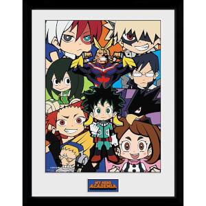 My Hero Academia Chibi Compilation Framed Photograph 12 x 16 Inch