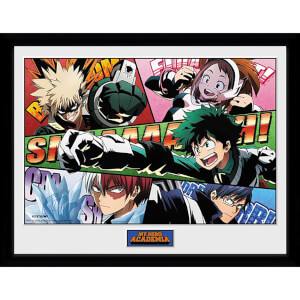 My Hero Academia Powers Framed Photograph 12 x 16 Inch