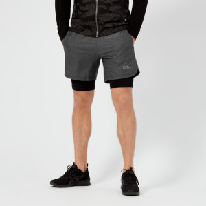 Superdry Sport Men's Athletic Double Layer Shorts - Black Grit