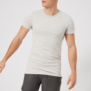 Superdry Sport Men's Gym Tech All Over Print Short Sleeve T-Shirt - Vapour Grey Fleck