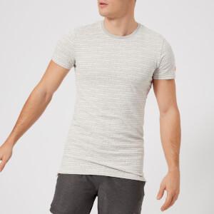 Superdry Sport Men's Gym Tech All Over Print Short Sleeve T-Shirt - Vapour Grey Fleck