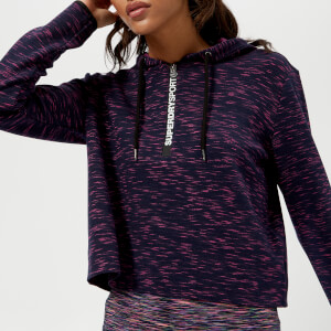 Superdry Sport Women's Gym Tech Luxe Crop Hoody - Miama Slub