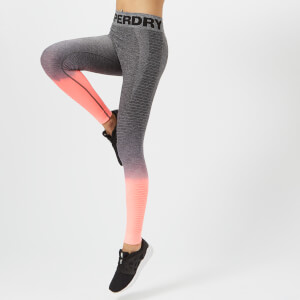 Superdry Sport Women's Seamless Ombre Leggings - Grey-Candy Coral