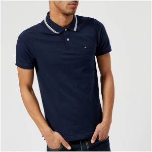 Tommy Jeans Men's Tipped Polo Shirt - Black Iris