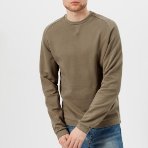 Universal Works Men's Crew Neck Loop Back Jersey Sweatshirt - Warm Stone