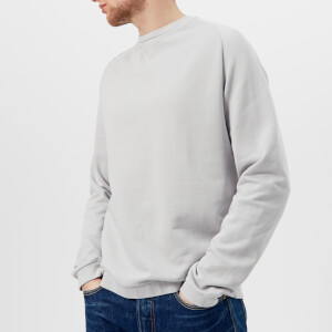 Universal Works Men's Crew Neck Loop Back Jersey Sweatshirt - Grey