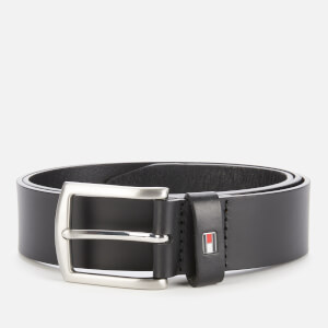 Tommy Hilfiger Men's New Denton Belt 3.5 - Black