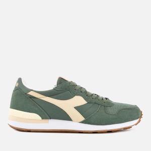 Diadora Men's Camaro Nylon/Suede Trainers - Elm Green/Bleached Sand