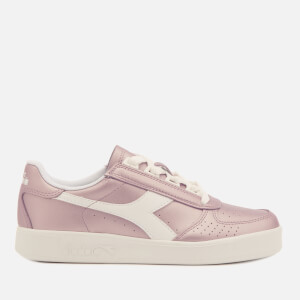 Diadora Women's B.Elite I Metallic Leather Trainers - Burlwood Pink