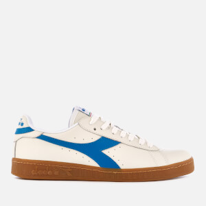 Diadora Men's Game Low L Grained Leather Trainers - White/Imperial Blue