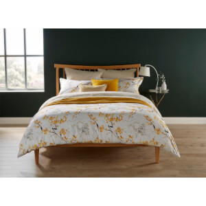 Christy Haruki Duvet Cover - Ochre