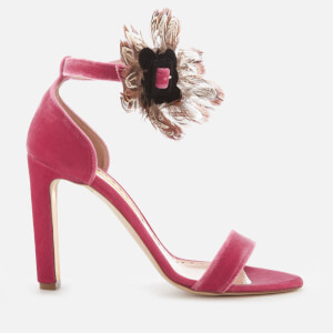 Rupert Sanderson Women's Nymphea Velvet Heeled Sandals - Gardenia